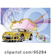 Yellow Convertible Car Background - 4