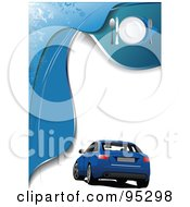 Royalty Free RF Clipart Illustration Of A Blue Car Background 5