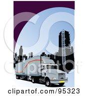 Big Rig Trucking Background 6 by leonid
