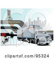 Big Rig Trucking Background 4 by leonid