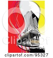 Royalty Free RF Clipart Illustration Of A City Tram 1 by leonid