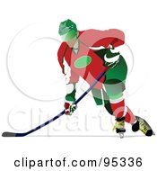 Royalty Free RF Clipart Illustration Of A Pro Hockey Player 6 by leonid