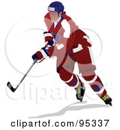 Royalty Free RF Clipart Illustration Of A Pro Hockey Player 5 by leonid