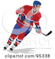 Royalty Free RF Clipart Illustration Of A Pro Hockey Player 7 by leonid