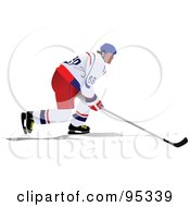 Royalty Free RF Clipart Illustration Of A Pro Hockey Player 2 by leonid