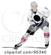 Royalty Free RF Clipart Illustration Of A Pro Hockey Player 3 by leonid