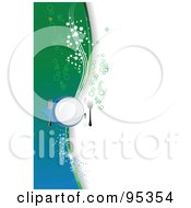 Royalty Free RF Clipart Illustration Of A Place Setting With Green And Blue And Bubbles On White by leonid