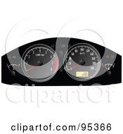 Royalty Free RF Clipart Illustration Of A Black Automotive Dask Meter Board by leonid