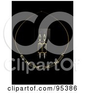 Royalty Free RF Clipart Illustration Of A Black Diamond Necklace And Earring Set