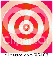 Royalty Free RF Clipart Illustration Of A Shiny Red Bullseye Background