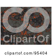 Royalty Free RF Clipart Illustration Of A Background Of Hot Lava Hardening
