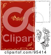 Royalty Free RF Clipart Illustration Of A Digital Collage Of Black And White And Red And Yellow Engagement And Wedding Design Elements 1 by dero