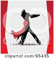 Royalty Free RF Clipart Illustration Of A Romantic Black Couple Dancing Closely by Eugene #COLLC95435-0054
