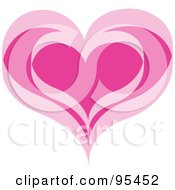 Pink Heart Outline Design 2