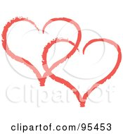 royaltyfree rf clipart of double hearts illustrations