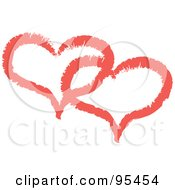 Royalty Free RF Clipart Illustration Of A Red Heart Outline Design 8 by Andy Nortnik