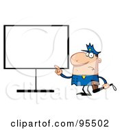 Royalty Free RF Clipart Illustration Of A Police Man Pointing To A Blank Sign by Hit Toon