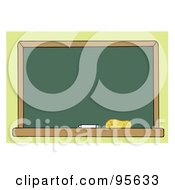 Royalty Free RF Clipart Illustration Of A Blank Green Class Room Chalkboard