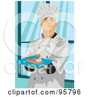 Royalty Free RF Clipart Illustration Of A Male Professional Chef 5 by mayawizard101
