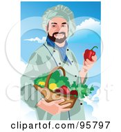 Royalty Free RF Clipart Illustration Of A Male Professional Chef 12 by mayawizard101