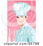 Royalty Free RF Clipart Illustration Of A Male Professional Chef 15 by mayawizard101