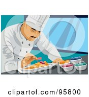 Royalty Free RF Clipart Illustration Of A Male Professional Chef 4 by mayawizard101