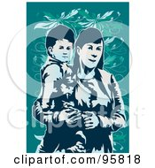 Royalty Free RF Clipart Illustration Of A Loving Mom With Child 7