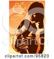 Royalty Free RF Clipart Illustration Of A Loving Mom With Child 6