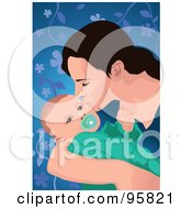 Royalty Free RF Clipart Illustration Of A Loving Mom And Baby 2 by mayawizard101