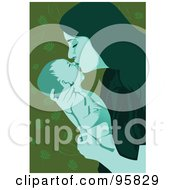 Royalty Free RF Clipart Illustration Of A Loving Mom And Baby 3 by mayawizard101