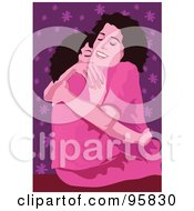 Royalty Free RF Clipart Illustration Of A Loving Mom With Child 2