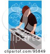 Royalty Free RF Clipart Illustration Of A Keyboard Boy