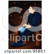 Royalty Free RF Clipart Illustration Of A Bongo Drum Player 3 by mayawizard101