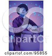 Royalty Free RF Clipart Illustration Of A Guy Drummer by mayawizard101