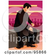 Royalty Free RF Clipart Illustration Of A Bongo Drum Player 5 by mayawizard101