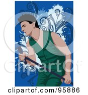 Royalty Free RF Clipart Illustration Of A Performing Male Singer 20