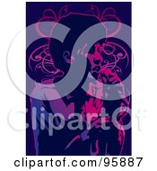 Royalty Free RF Clipart Illustration Of A Performing Male Singer 18