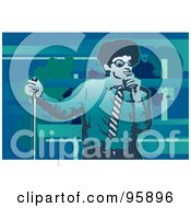 Royalty Free RF Clipart Illustration Of A Performing Male Singer 6