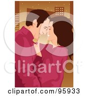 Royalty Free RF Clipart Illustration Of A Loving Couple 1