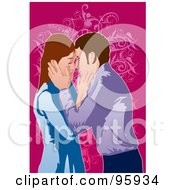 Royalty Free RF Clipart Illustration Of A Loving Couple 4