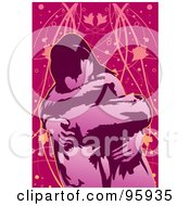 Royalty Free RF Clipart Illustration Of A Loving Couple 3