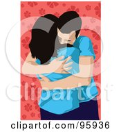 Royalty Free RF Clipart Illustration Of A Loving Couple 2