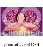 Poster, Art Print Of Psychic Fortune Teller With A Crystal Ball - 1