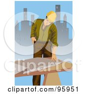 Royalty Free RF Clipart Illustration Of A Working Engineer 2 by mayawizard101
