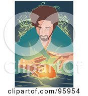 Poster, Art Print Of Psychic Fortune Teller With A Crystal Ball - 2