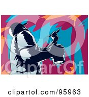 Royalty Free RF Clipart Illustration Of A House Painter 3