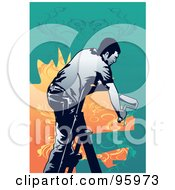 Royalty Free RF Clipart Illustration Of A House Painter 6