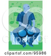 Royalty Free RF Clipart Illustration Of A Bongo Drum Player 1 by mayawizard101