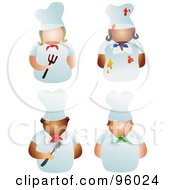 Royalty Free RF Clipart Illustration Of A Digital Collage Of Faceless Male And Female Chefs by Prawny