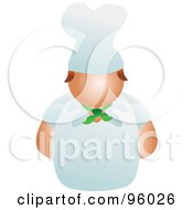 Royalty Free RF Clipart Illustration Of A Faceless Male Chef In Uniform by Prawny